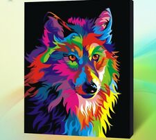 Diy Oil Painting Paint by Number Kit for Adult 16 20-Inch ( Wolf ) 50cm x 40cm