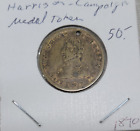 1840 William Henry Harrison Presidential Campaign Token with Small Hole