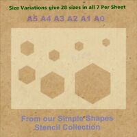 Simple Shape Hexagon Stencil Strong 350 micron Mylar not Hobby stuff #SSS006