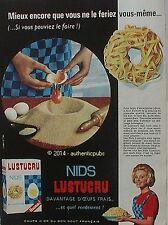 PUBLICITE LUSTUCRU PATES AUX OEUFS FRAIS NIDS DE 1963 FRENCH AD ADVERT PUB