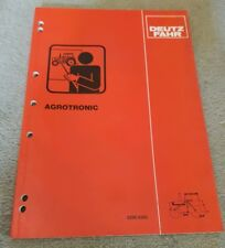DEUTZ FAHR DX TRACTOR AGROTRONIC SYSTEM SERVICE TRAINING MANUAL