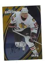 Kyle Calder 2002-03 BAP Signature Series Autograph Gold Card. # 084, Chicago