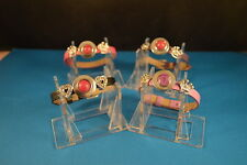 Lot of 4  NOOSA CHARM BRACELETS  New! Jewelry USA SELLER chunk drill snap button