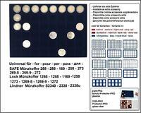 Look 1184-48-34 Münztableaus TAB Einlagen Blau 48 quadratische Fächer 34 mm