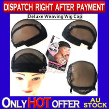 Deluxe Weaving Wig Cap Dome Style Black Breathable Stretchable for making wig