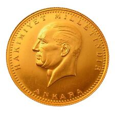 ATA TAM ALTIN Turkish gold coin Atatürk Gold 100 Kurush 2014 without eyelets 7, 2 g.
