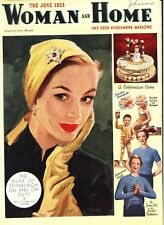 Vintage WOMAN and HOME and GOOD NEEDLEWORK Magazine  JUNE  1953   SCARCE
