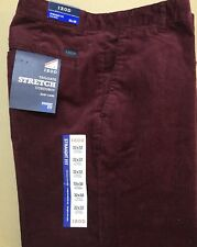Nwt NEW Izod Men's Tailgate Stretch Corduroy Flat Front Pants Trousers $80