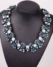 colorful collar Chain Necklace 960 pentand Crystal Bib Statement charm chunky