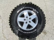 4 USED 17 inch Jeep Wrangler Wheels with 4 USED BFGoodrich Mud Terrain Tires