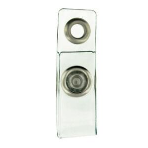 Clear Plastic Badge Holder Snap Strap