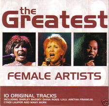 GREATEST FEMALE ARTISTS: ETTA JAMES, DIANA ROSS, SUZANNE VEGA, CYNDI LAUPER