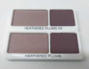 4 Elizabeth Arden Beautiful Color Eye Shadow Duo Each Tester .11 Heathered Plums