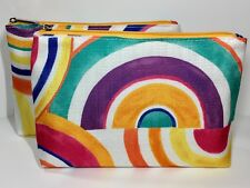 2pc Clinique Cosmetics Makeup Bags (made with canvas like fabric)