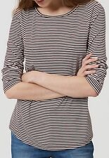 Ann Taylor LOFT New Panel Striped Rayon Knit Top Warm Violet Size M NWT $39.50