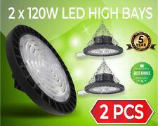2x 120W UFO LED HIGH BAY 240V HIGH OUTPUT COMMERCIAL LED HIGHBAY [BONUS SENSOR]