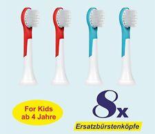 8 x Aufsteckbürsten passend Philips Sonicare for Kids HX6034 Ersatzbürsten