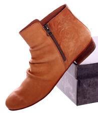 Felmini Ankle Boots Stiefelette Macau+Flores Grösse 41 Vintage Caramel Braun