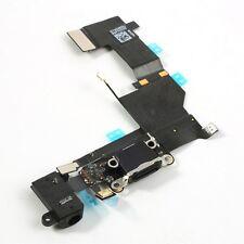 FLEX DOCK CARGA DATOS + CONECTOR JACK AURICULAR + MICROFONO IPHONE 5S NEGRO