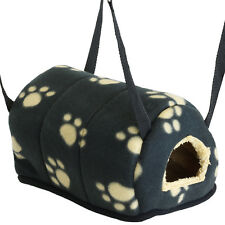 SMALL BLACK IGLOO PET BED GUINEA PIG CAVE HAMMOCK COSY TOY FOR CAGE/RUN COMFY