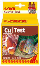 Sera Cu Kupfer-Test 2x 15ml - ca. 50 Tests Wassertest Aquarium