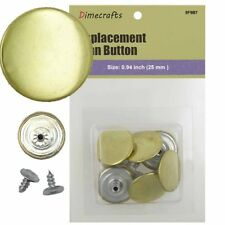 25 mm No-Sew Replacement Jean Tack Buttons (5F9B7)  6 CT. Color Gold