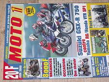Moto 1 n°206 Triumph Daytona 955 GSX-R 750 Yamaha R6 Honda VTR SP1 VMax Vs X-11