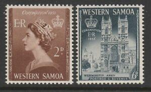 Samoa 1953 Coronation SG 229-230 Mnh.