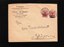 Germany Inflation Dr. Zimmer Naumburg 2 x 2 Million (Shade) Marks Cover z86