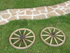antique WHEEL wood Cart CARIOLE garden house country side holiday cottage old