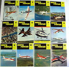 1967 AERO REVUE MAGAZINE COMPLETE SET 0F 12 aeroplanes airplanes aircraft flying