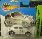 Hot Wheels 2014 Herby The Love Bug VW Volkswagen Beetle SHORT CARD