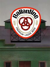 Miller's Ballantine Lager Beer Animated Neon Sign O/HO 88-0501 Free Window Sign