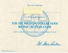 SIX MILLION DOLLAR MAN BIONIC FAN CLUB PHOTO KIT 1978