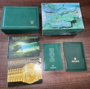 ROLEX SUBMARINER VINTAGE COLLECTORS 1998 WATCH BOX W/TRANSLATION & MANUALS MH037