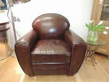 DELUXE FURNITURE,LARGE  REAL LEATHER  ARM CHAIR VINTAGE STYLE CODE 7208