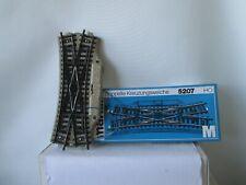 Märklin H0 5207 M-Gleis Elektrische Doppelte Kreuzungsweiche s.Foto m.OVP WH6625