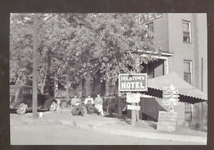 REAL PHOTO DUCKTOWN TENNESSEE DUCKTOWN HOTEL OLD CARS POSTCARD COPY