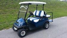 2021 Club Car Precedent New Silver Standard 4 Pass Blue Hi Spd Lights Golf Cart