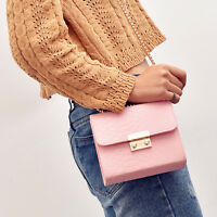 Womens Girls Ladies Satchel Crossbody Shoulder Bag PU Leather Tote Handbag Purse