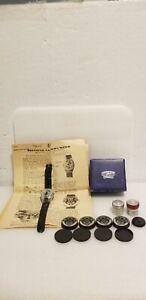 Rare Spy Camera Steineck ABC Wristwatch with many accessories