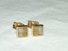 Ohrstecker 585 Gold mit 8 Natur-Diamanten Handarbeit, UNIKAT
