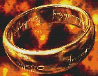 The Ring- Lord of the Rings Counted Cross Stitch Kit 18ct