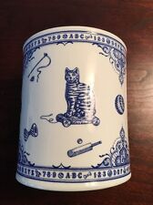 Rare Spode Blue and White Edwardian Childhood Canister Bank