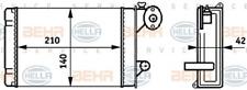 Wärmetauscher, Innenraumheizung für Heizung/Lüftung HELLA 8FH 351 313-341