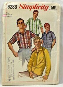 Vintage 1940/'s 1950/'s Simplicity Pattern for Men/'s Shirts Size Large