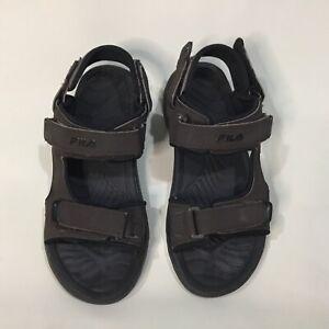 Fila Mens Size 10 Transition Athletic Sandal Espresso Black