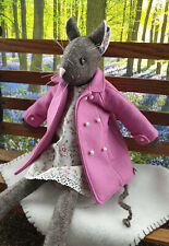Stunning Luna Lapin Handmade Wool Coat In Rose Pink, With Pearl Buttons