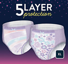 All NEW 2021 Goodnites XL Diapers. 95 -140+ Ibs - GIRLS - Pack of 21 - Free Ship