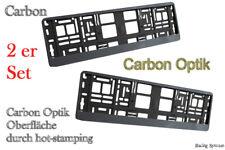 2 Hochglanz Carbon Optik Kennzeichenhalter Nummernschildhalter Metallisiert